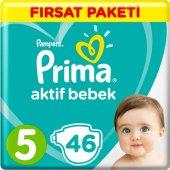 Prima Bebek Bezi Aktif Bebek 5 Beden 46 Adet...