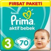 Prima Bebek Bezi Aktif Bebek 3 Beden 70 Adet...