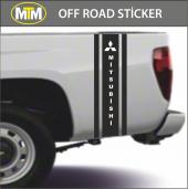 Mitsubishi Yan Şerit Off Road Sticker 2 Adet