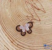 Gümüş Kelebek Bayan Hediyelik Kolye