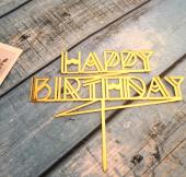 Kek Topper, Cake Topper, Happy Birthday Temalı 3