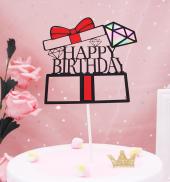 Kek Topper, Cake Topper, Happy Birthday Temalı 6