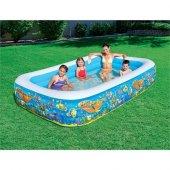 Bestway 54121 3 Halkalı Büyük Boy Aile Havuzu...