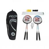 Delta Badminton Set 4 Raket + 3 Top+ Ağ Demir...