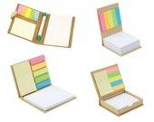 Geri Dönüşüm 4 Lü Yapışkanlı Renkli Not Kağıdı Notluk Seti