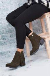 Tarçın Hakiki Deri Günlük Kadın Topuklu Bot Trc49 W016