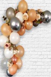 100 Adet Metalik Bakır Gold Rose Beyaz Şeffaf Gümüş Balon Zinciri Aparatı