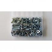 Ayaz M10 Çelik Civata Seti Anahtar Başlı Civata Seti 126 Parça