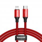 Baseus Yiven Series Type C To İphone 2a 2metre Kırmızı Kablo