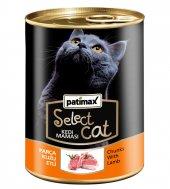 400 Gr Parça Kuzu Etli Konserve Kedi Maması Patimax Select Cat