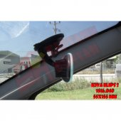 KİVA Elips 2 Kilitli Vantuzlu Ayna - Tüm Araçlar Kör Nokta Aynası 55x155mm-3