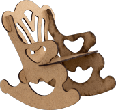 Joy And Toys Ahşap Sallanan Sandalye Boyama Seti 6lı Boya+fırça