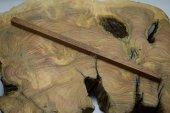 Merbau Ağacı Tesbihlik Çıta 10x10x260mm