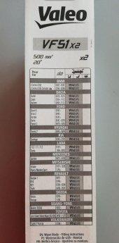 Valeo Silecek Süpürgesi 50cm (X2) Normal Tip (First) (Üniversal)
