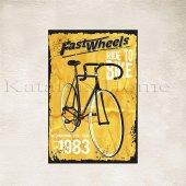 Bisiklet Baskılı Ahşap Poster 1