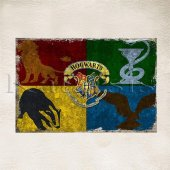 Harry Potter Hogwards Baskılı Ahşap Poster