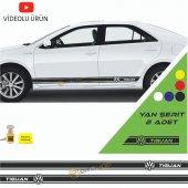 Erzline Volkswagen Tiguan Yan Şerit Oto Sticker Sağ Sol