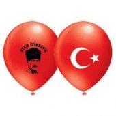 Atatürk Ve Ay Yıldız Baskılı Balon 10 Adet