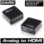 DARK DK HD AVGAXHDMI VGA to HDMI Aktif Dönüştürücü