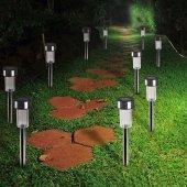 Nigarden Güneş Enerjili Bahçe Lambası Solar Aydınlatma (10 Adet)