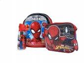 Spiderman Okul Çantası Seti 3lü İki Bölmeli Orjina...