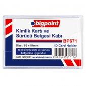 Bigpoint Kimlik, Ehliyet Kabı Yatay Şeffaf 86x54mm