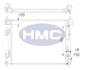 Hyundai Blue 11 Dizel Su Radyatörü 26mm.