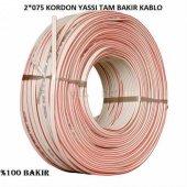 2x0,75 Kordon Yassı Kablo Tam Bakır Kablo Full Bakır Kablo (30 Metre Satışımız) Kargo Bedava