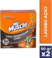 Mr Muscle Granül Lavabo Açıcı 50 Gr X 2 Adet