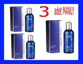 3 X Manly Sport 125ml Edt Mavi Erkek Parfümü