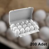 15' Li Kapaklı Karton Yumurta Viyolü (200 Adet)