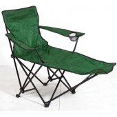 Ayaklıklı Katlanan Kamp Sandalyesi Yeşil Kamp Koltuğu