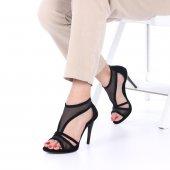 Amadis İnce Topuklu Ayakkabı Süet 10cm, Siyah