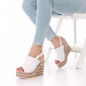 Hepica Dolgu Topuklu Ayakkabı 11cm, Beyaz