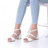 Magna Topuklu Ayakkabı 5cm Kısa Topuklu, Beyaz