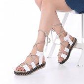 Pentas Kadın Sandalet Beyaz