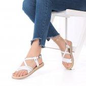 Rain Kadın Sandalet Hakiki Deri Siyah, Taba, Kahverengi, Beyaz