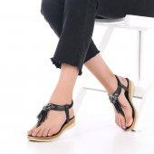 Iola Kadın Sandalet Parmak Arası, Püsküllü, Platin, Rose, Gümüş