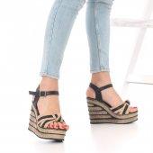 Glove Dolgu Topuklu Ayakkabı - Beyaz, Mavi, Siyah, Krem, Pembe-6