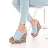 Hepica Dolgu Topuklu Ayakkabı Süet Siyah, Krem, Mavi, Kırmızı