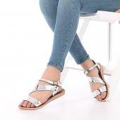 Imera Kadın Sandalet Platin, Gümüş, Rose