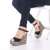 Ladina Dolgu Topuklu Ayakkabı Süet - 11cm, Siyah, Krem, Hardal-5