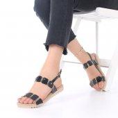 Rene Kadın Sandalet Siyah, Beyaz, Fuşya, Gümüş, Platin