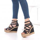 Selini Dolgu Topuklu Ayakkabı - Siyah, 11.5cm-2