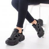 Riley Kadın Spor Ayakkabı - Siyah-2