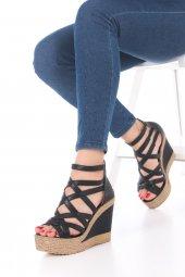Selini Dolgu Topuklu Ayakkabı - Siyah, 11.5cm-3