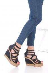 Selini Dolgu Topuklu Ayakkabı - Siyah, 11.5cm-4