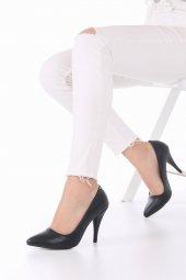 Tilda Stiletto Topuklu Ayakkabı - 10cm İnce Topuklu, Siyah-3