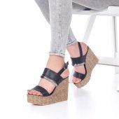 Marcella Dolgu Topuklu Ayakkabı - 11cm, Siyah, Beyaz