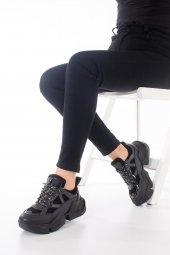 Riley Kadın Spor Ayakkabı - Siyah-6